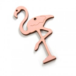 Wooden Pendant Flamingo 90x47mm Connector