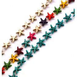 Howlite Ball Starfish 15mm