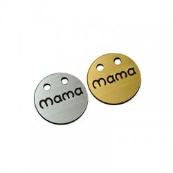"Plexy Acrylic Round Pendant ""MAMA"" 20mm"