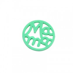 "Plexy Acrylic Round Pendant ""MAMA"" 25mm"