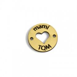 "Plexy Acrylic Pendant ""MAMI TQM"" 20mm"