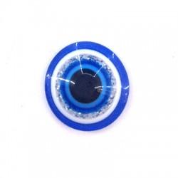 Cabujón de Resina Redondo con Ojo de Suerte 12mm