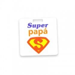 "Colgante de Metacrialato pintado ""Super Papa"" 40mm"