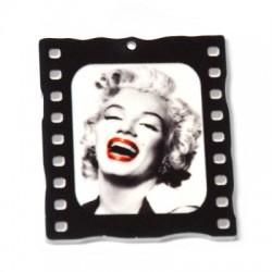 Colgante de Metacrilato pintado Marilyn Monroe 40x45mm