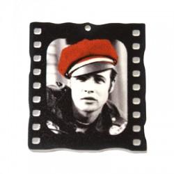 Colgante de Metacrilato pintado Marlon Brando 40x45mm
