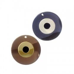 Colgante de Metacrilato Redondo Ojo de Suerte 40mm
