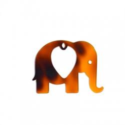 Colgante de Metacrilato Elefante 65x50mm