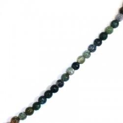 Bola Semipreciosas de Agata Facetada ~6mm (~60unid/tira)