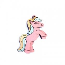 Colgante de Madera Pony 52x33mm