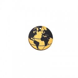 Colgante de Madera Tierra 25mm