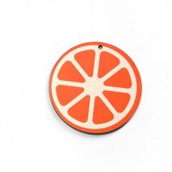 Colgante de Madera Naranja 50mm