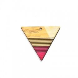 Colgante de Madera Triangulo 43x37mm