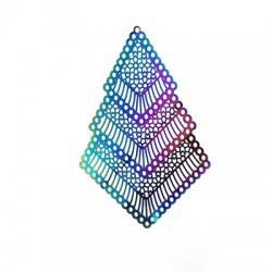 Colgante de Acero Filigrana Geometrico 79x46mm