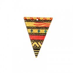Colgante de Acero Inoxidable Triangulo con Diseños 25x35mm