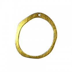 Colgante de Aluminio Circulo irregular 48x52mm