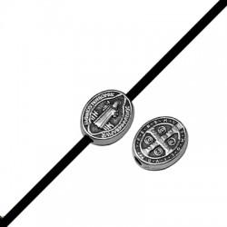 Entrepieza de Metal Zamak Jesus 8x10mm (Ø 1.9mm)