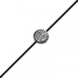 Entrepieza de Metal Zamak Redinda Martillada 12mm (Ø 1.8mm)