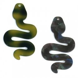 Colgante de Metacrilato Serpiente 33x60mm