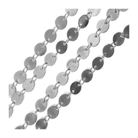 Cadena de Latón con Discos 6mm