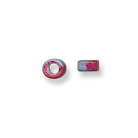 Entrepieza Pasador de Cerámica Esmaltada Tubo Rondel 5mm (Ø 5.5mm)