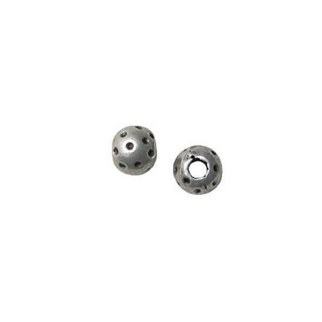 Entrepieza de Metal Zamak Bola Puntos 10x8mm (Ø 4.6mm)