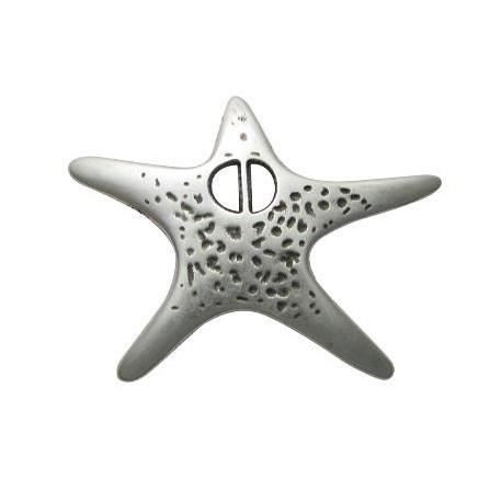 Pasador de Metal Zamak Estrella de Mar 53x69mm