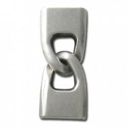 Cierre Dos Partes de Metal Zamak Tipo Esposas (Ø 3.3x15mm)