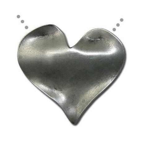 Colgante de Metal Zamak Corazón 52x26.5mm