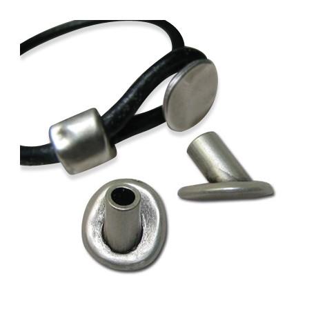 Cierre Botón de Metal Zamak 16x14mm(Ø 4mm)