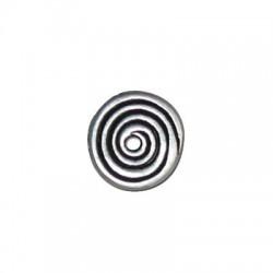 Disco de Metal Zamak Redondo Espiral 14mm
