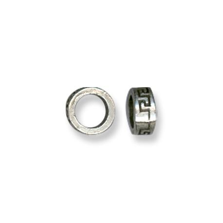 Entrepieza de Metal Zamak Rondel 7.6x3.7mm (Ø 5.3mm)