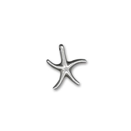 Colgante de Metal Zamak Estrella de Mar 18mm