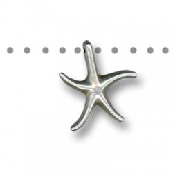 Colgante de Metal Zamak Estrella de Mar 15mm