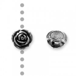 Entrepieza de Metal Zamak Rosa 15mm (Ø 1.5mm)
