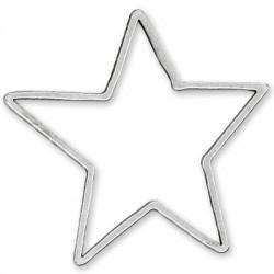 Colgante de Metal Zamak Estrella 82x85mm
