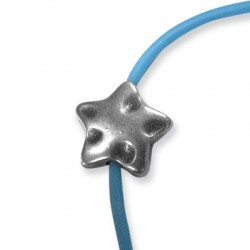 Entrepieza de Metal Zamak Estrella 17mm (Ø 2.6mm)
