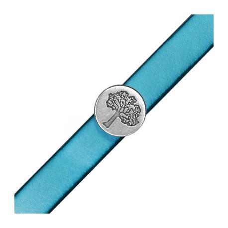 Pasador de Metal Zamak Redondo Arbol de la Vida 18mm (Ø 10.5x2.5mm)