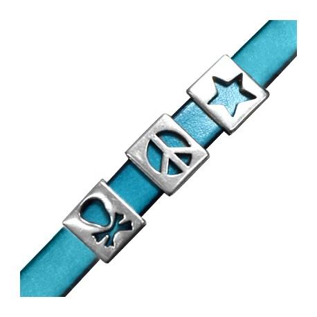 Pasador de Metal Zamak Estrella-Signo de Paz-Calavera 3 Estilos Surtidos 13x12mm (Ø10.2x2.3mm)