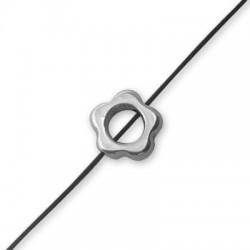 Entrepieza  de Metal Zamak Flor 14mm (Ø 2mm)