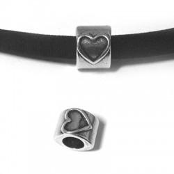 Entrepieza de Metal Zamak Corazón 10x8mm (Ø 5.2mm)