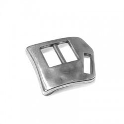Cierre de Metal Zamak Irregular Una Pieza 24x30mm (Ø 10.2x3mm)