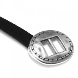 Cierre de Metal Zamak Hebilla Una Pieza 25x32mm (Ø 10.2x2mm)