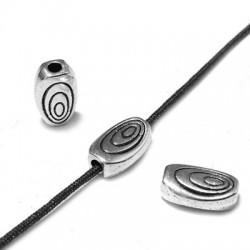 Entrepieza de Metal Zamak Ovalada 10x6x3.3mm (Ø 1.5mm)