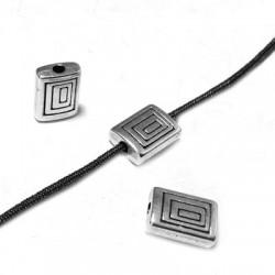 Entrepieza de Metal Zamak Rectangular 8X6mm (Ø 1.3mm)