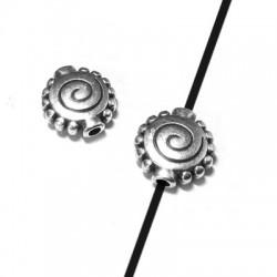 Entrepieza de Metal Zamak Espiral 10mm (Ø 1.1mm)