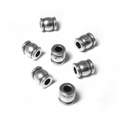 Entrepieza de Metal Zamak Tubo 6x5mm (Ø 2.5mm)