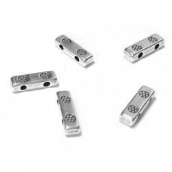 Separador de Metal Zamak Doble 3x9.8mm (Ø 1.1mm)