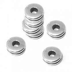 Entrepieza de Metal Zamak Rondel 6,2mm (Ø 2,3mm)