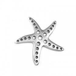 Colgante de Metal Zamak Estrella de Mar Perforada 37x35mm