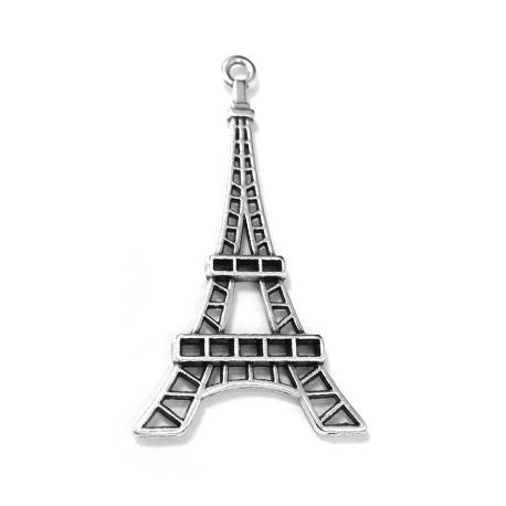 Colgante de Metal Zamak Torre Eiffel 40x24mm